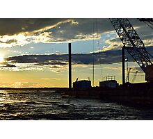 Sunset Over the Barge Photographic Print