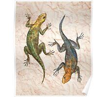 lizards in love Poster