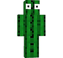 cactus man minecraft Photographic Print