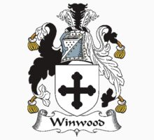 Coat of arms (family crest) for last-name or surname Winwood . Heraldry banner for your name. Kids Clothes