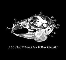All The World is Your Enemy (white colourway) by spyderfyngers