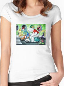 Scooter rally - Yeti and Co. Women's Fitted Scoop T-Shirt