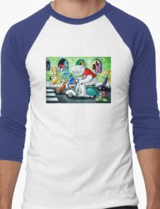 Scooter rally - Yeti and Co. Men's Baseball ¾ T-Shirt