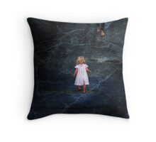 wee girl found Throw Pillow