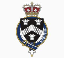 Coat of arms (family crest) for last-name or surname Wiseman (England) . Heraldry banner for your name. Kids Clothes