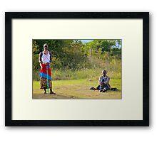 Masai, KENAY Framed Print