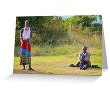 Masai, KENAY Greeting Card
