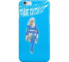 Femme Fatale Bright Blue iPhone Case/Skin