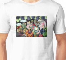 Yeti and Monsters having a party! Unisex T-Shirt