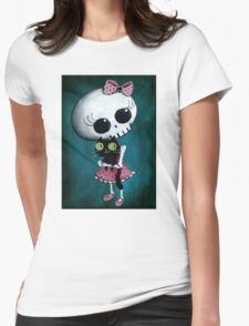 Little miss Death Womens Fitted T-Shirt
