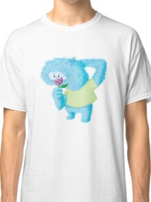 Furry Blue Romantic Monster Classic T-Shirt