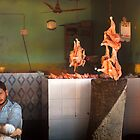 the owner of the chicken shop and me by Dinni H
