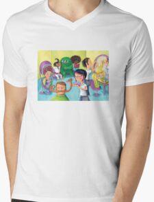 Hair Beauty Saloon Mens V-Neck T-Shirt