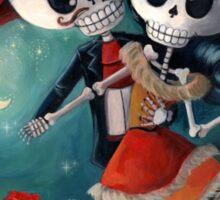 Dia de Los Muertos Couple of Skeleton Lovers Sticker