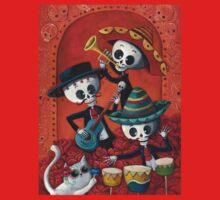 Dia de Los Muertos Skeleton Musicans One Piece - Short Sleeve