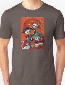 Dia de Los Muertos Skeleton Musicans Unisex T-Shirt