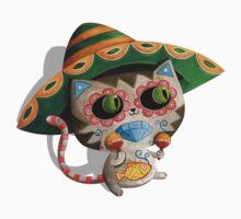 Mexican Dia de Los Muertos Cat One Piece - Short Sleeve