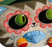 Mexican Dia de Los Muertos Cat Sticker