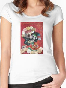 Mexican Skeletons Mother and Daughter Women's Fitted Scoop T-Shirt