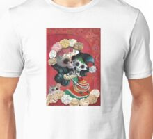 Mexican Skeletons Mother and Daughter Unisex T-Shirt