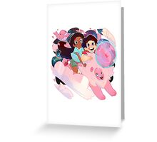 Steven, Connie, and Lion ! Greeting Card