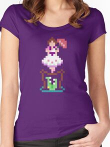 8-bit Haunted Mansion Tightrope Girl Women's Fitted Scoop T-Shirt