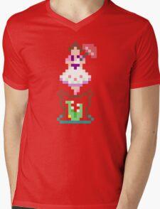 8-bit Haunted Mansion Tightrope Girl Mens V-Neck T-Shirt