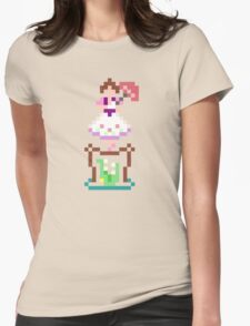 8-bit Haunted Mansion Tightrope Girl Womens Fitted T-Shirt