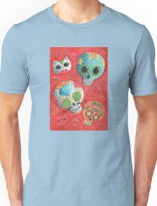 Colourful Sugar Skulls Unisex T-Shirt