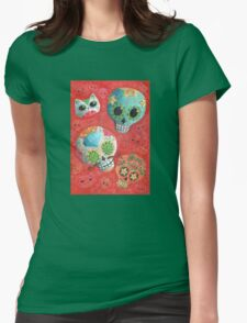 Colourful Sugar Skulls Womens Fitted T-Shirt