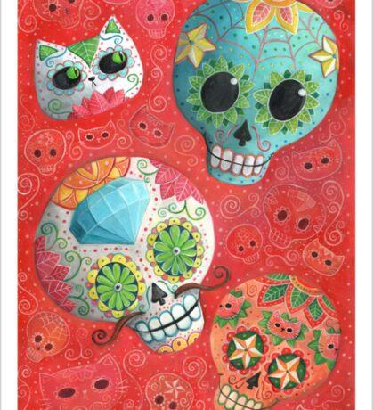 Colourful Sugar Skulls Sticker