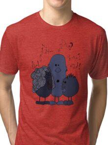 Blue beans speaking Tri-blend T-Shirt