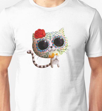 White Cat of The Dead Unisex T-Shirt