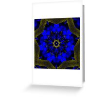 Blue Swoon Greeting Card