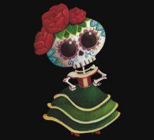 Mexican Skeleton Girl Kids Tee
