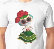 Mexican Skeleton Girl Unisex T-Shirt