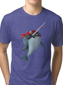 Cute Pirate Narwhal Tri-blend T-Shirt