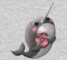 Cute Narwhal with donut Kids Tee