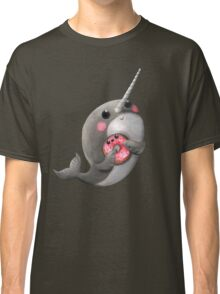 Cute Narwhal with donut Classic T-Shirt