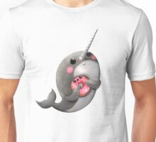 Cute Narwhal with donut Unisex T-Shirt
