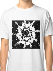 Abstract Black and White Face Classic T-Shirt