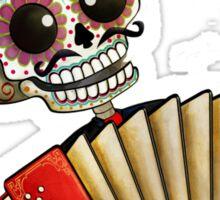 Mexican Skeleton Musician Sticker