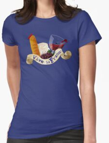 Basket of Delicious French Treats Womens Fitted T-Shirt