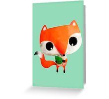 Cute Little Fox Greeting Card