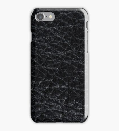 Black leather  iPhone Case/Skin