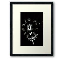 0032 - Brush and Ink - Second Flower Framed Print
