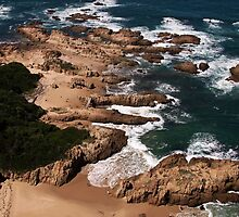 Beach near Knysna Heads, Western Cape, South Africa by Roger Barnes