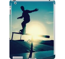 Skateboarder silhouette on a grind iPad Case/Skin