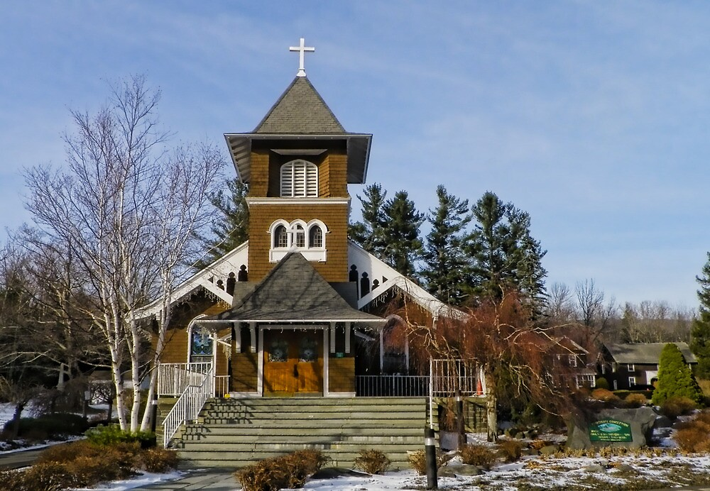 Haines Falls Victorian Church by Pamela Phelps