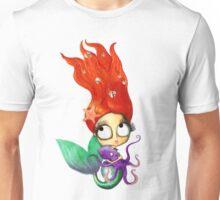 Red Hair Spooky Mermaid Unisex T-Shirt